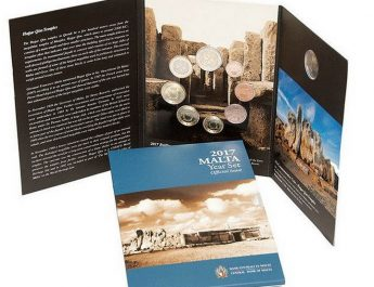 New euro coin set dated 2017 issued by Central Bank of Malta