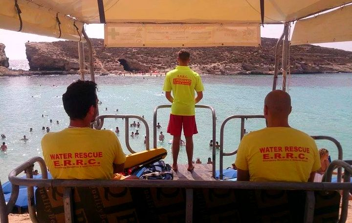 ERRC volunteers rescue baby girl at Blue Lagoon, Comino
