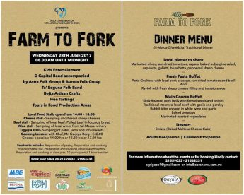 Farm to Fork Festival at the Gozitano Agricultural Village, Xewkija