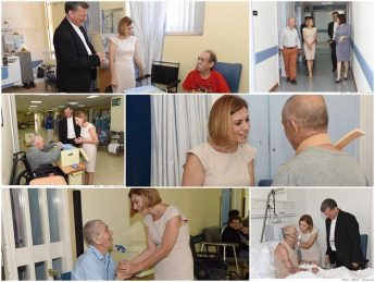 Gozo Minister visits Gozo General Hospital on the occasion of Father's Day