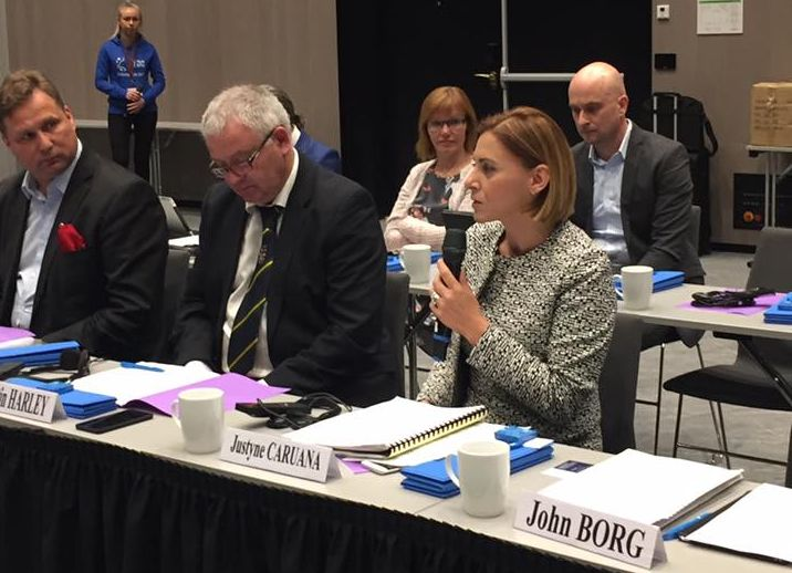 Gozo Minister Justyne Caruana at meeting of the Regions in Norway