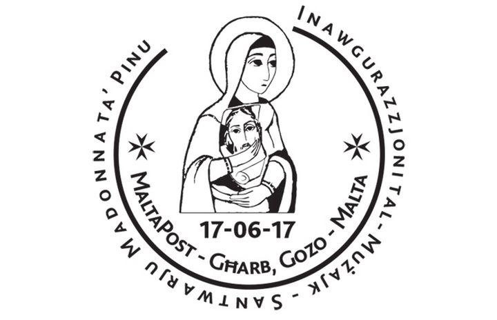 Special Hand Postmark for inauguration of mosaic works at Ta' Pinu Sanctuary