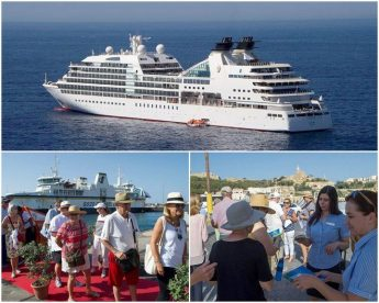 MV Seabourn Odyssey cruise passengers enjoy a tour of Gozo