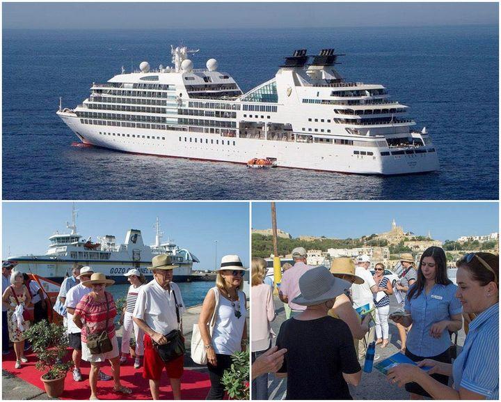MV Seabourn Odyssey cruise passengers enjoy a tour of Gozo