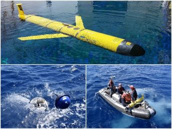 Sea glider collects data from unexplored areas of the Mediterranean