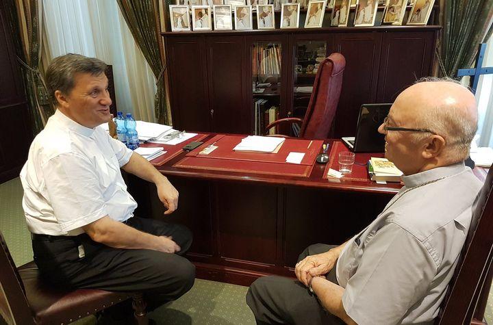 Archbishop George Frendo OP pays courtesy visit to Bishop Grech