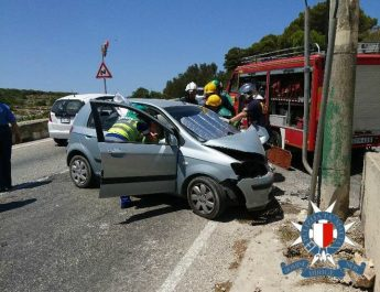 Gozitan couple grievously injured in car crash in St Paul's Bay