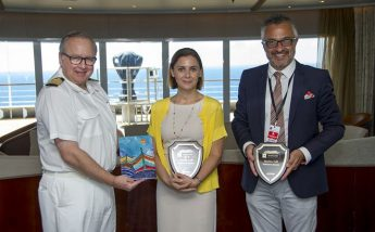 Minister for Gozo pays official visit on board Seabourn Encore