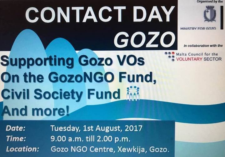 Contact Day for Gozo NGOs on funding schemes available