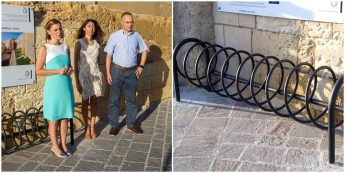 50 bike stands being installed in strategic locations around Gozo