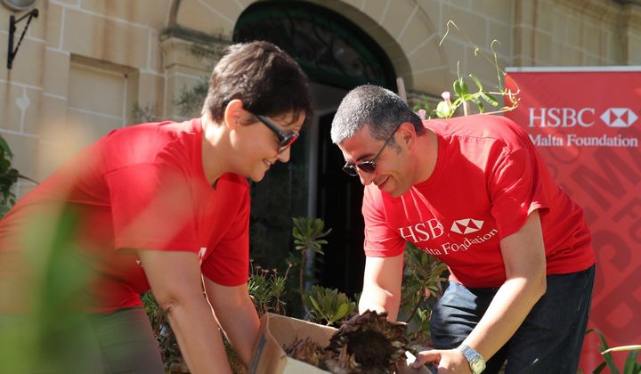 HSBC Malta's Volunteer Leave Day team members help out in Gozo
