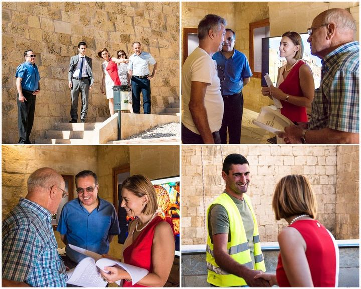 Gozo Minister Justyne Caruana visits the Citadel development project