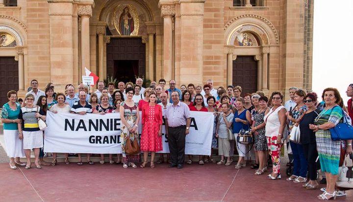 Nanniet Malta grandparents celebrate Mass at Ta' Pinu Sanctuary