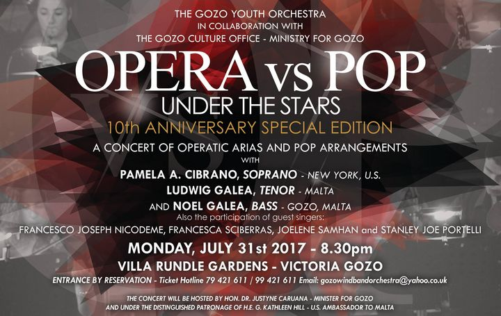 Opera vs Pop Under the Stars now at the Villa Rundle Gardens