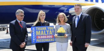 Ryanair launches seat sale to celebrate carrying 9m customers in Malta