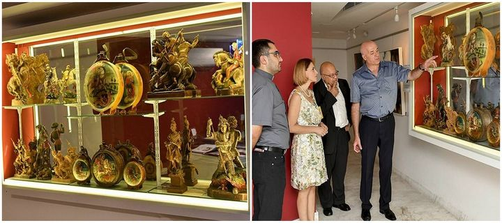 Exhibition of St George wooden artefacts at Il-Hagar Museum