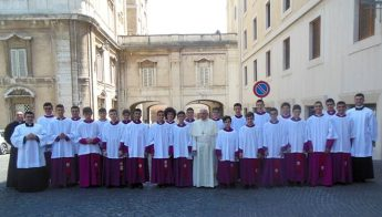 Altar boys from Gozo and Malta meet with Pope Francis