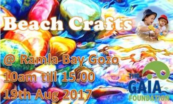 Beach Crafts with the Gaia Foundation at Ramla Bay, Gozo