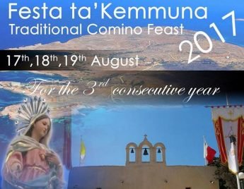 Comino Feast gets underway on Thursday with days of celebrations