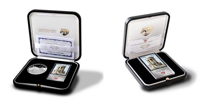 Operation Pedestal Silver foil stamp replica & commemorative coin set