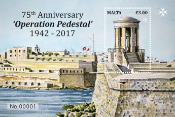 75th Anniversary of Operation Pedestal - MaltaPost stamp issue