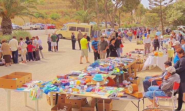 Marsalforn fundraising car boot sale in aid of the Arka Foundation