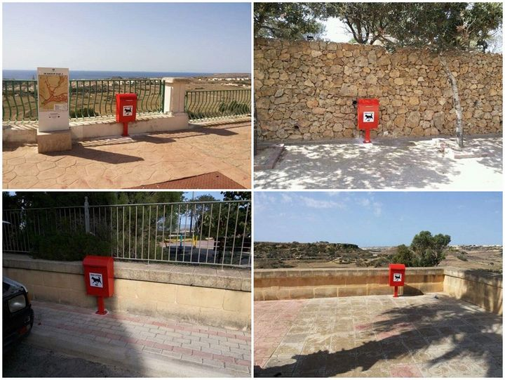 Nadur Council installs several dog waste bins around the village