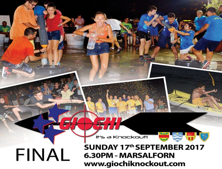 Three teams to battle it out in Giochi – it's a knockout Finals 2017