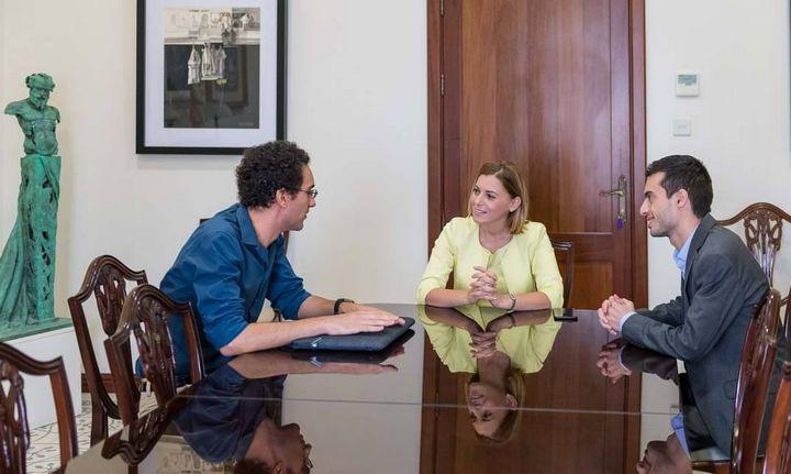 Gozitan astrophysicist Dr Joseph Caruana meets the Gozo Minister