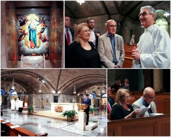 President attends Mass at Oratory of Our Lady of Ta' Pinu in Washington