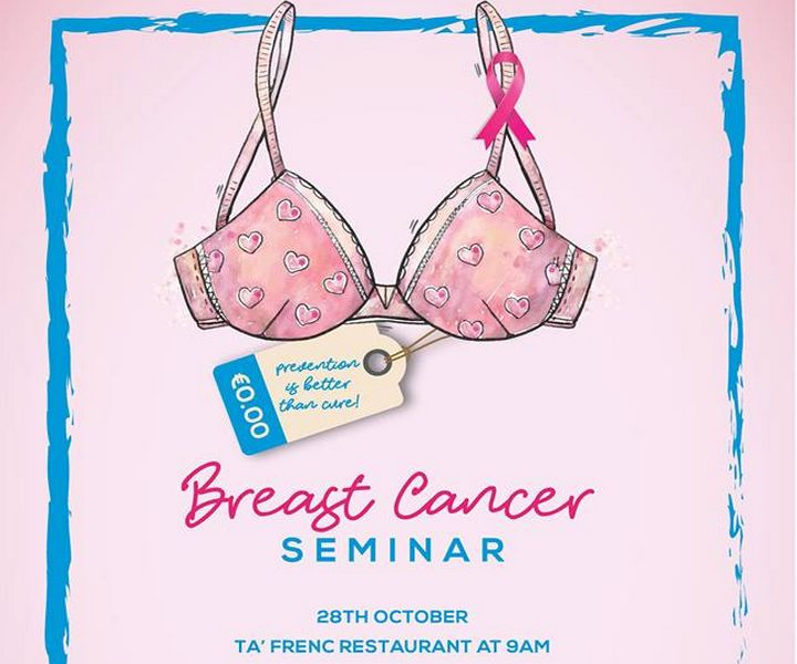 Gozo Breast Cancer Seminar this Saturday at Ta' Frenc Restaurant