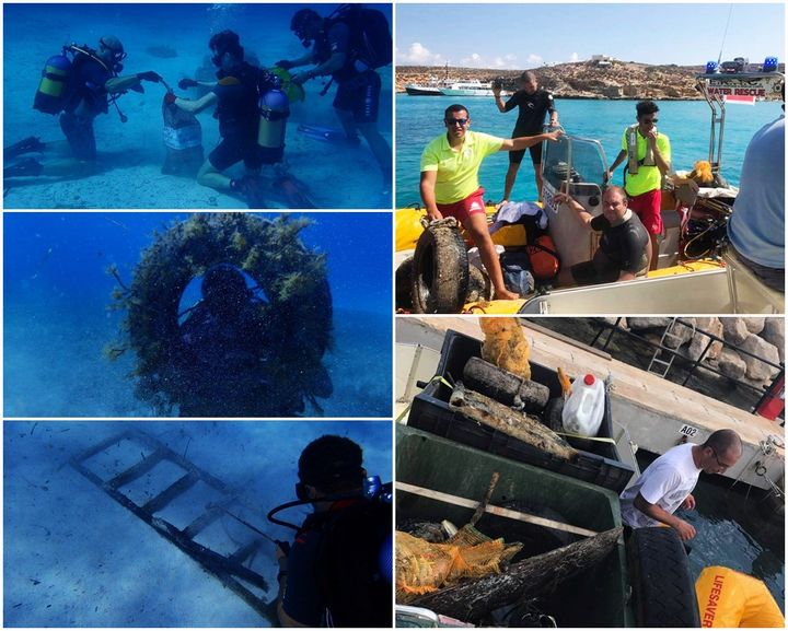 RRC Gozo volunteers carry out regular underwater clean-ups