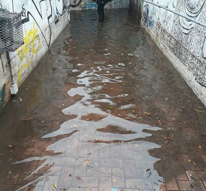 Flooded underpass hampering students reaching University - GUG