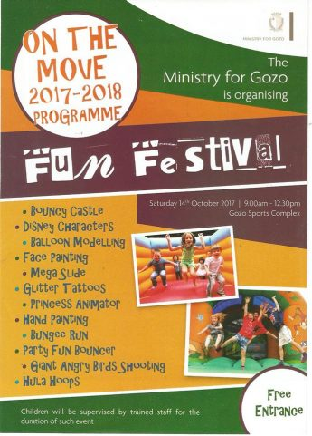 Fun Festival next Saturday opens On the Move Gozo Programme