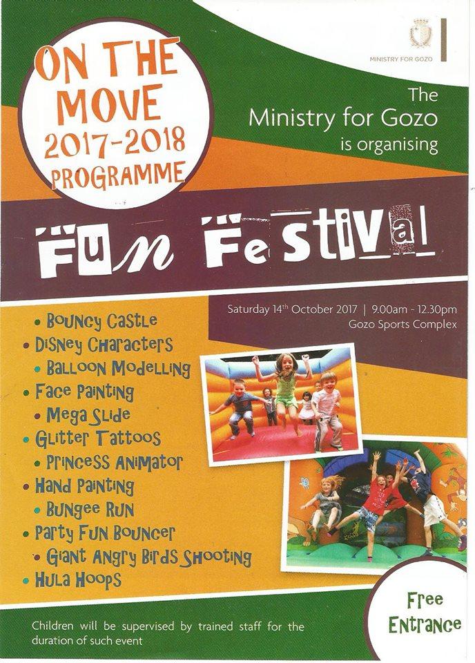 Fun Festival next Saturday opens On the Move Gozo Programme