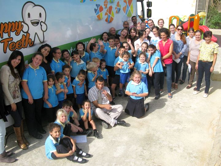 San Lawrenz Primary students learn all about oral hygiene