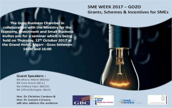Gozo Seminar for local businesses as part of SME Week 2017