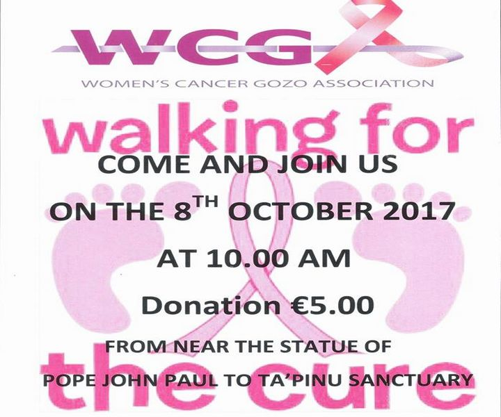 Walking for the Cure - WCGA Gozo events for Pink October