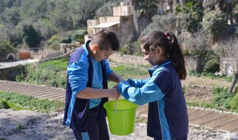 Children learn about water conservation during Gozo events