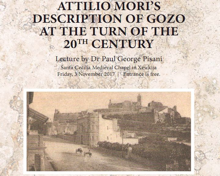 Lecture: Attilio Mori's description of Gozo at the turn of the 20th Century