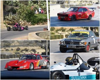Exciting afternoon of driving at the Xaghra Hillclimb event