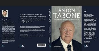 New publication launched of Anton Tabone's biography by Sergio Grech
