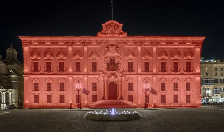 Aubege de Castille in red remembering those who died for their beliefs