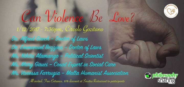 Public talk in Gozo asks the question - Can violence Be Love?