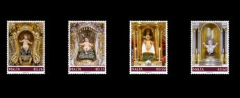 Figurines of the child Jesus feature on this year's Christmas stamps