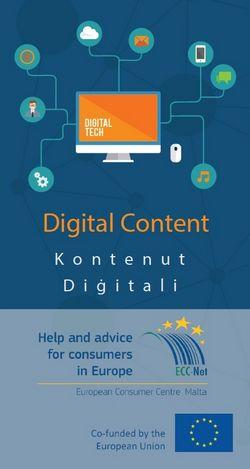ECC-Malta publishes new information brochure on digital content