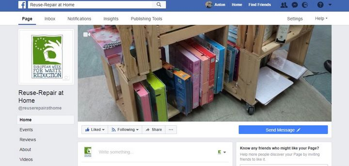 Reuse-Repair at Home: New facebook page launched for EWWR