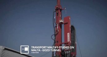 Malta-Gozo tunnel - investigative coring underway on land and at sea