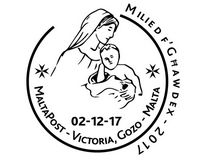Special hand postmark this Saturday in Victoria - Milied f' Ghawdex