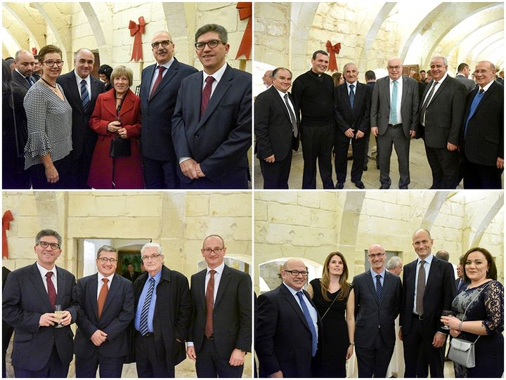 BOV Gozo customers enjoy a reception for the festive season